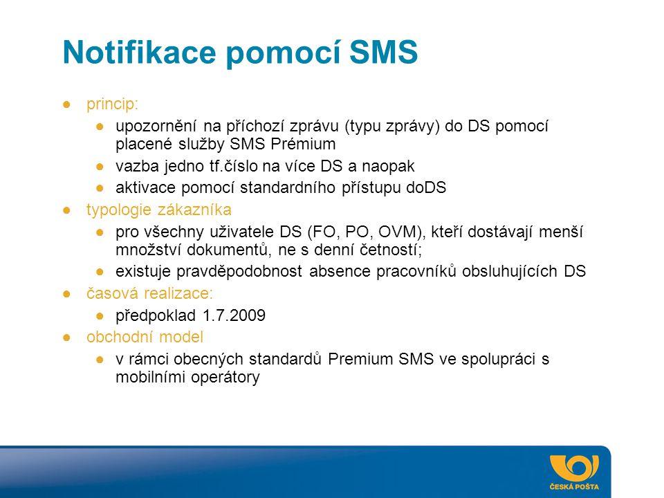 Notifikace pomocí SMS princip: