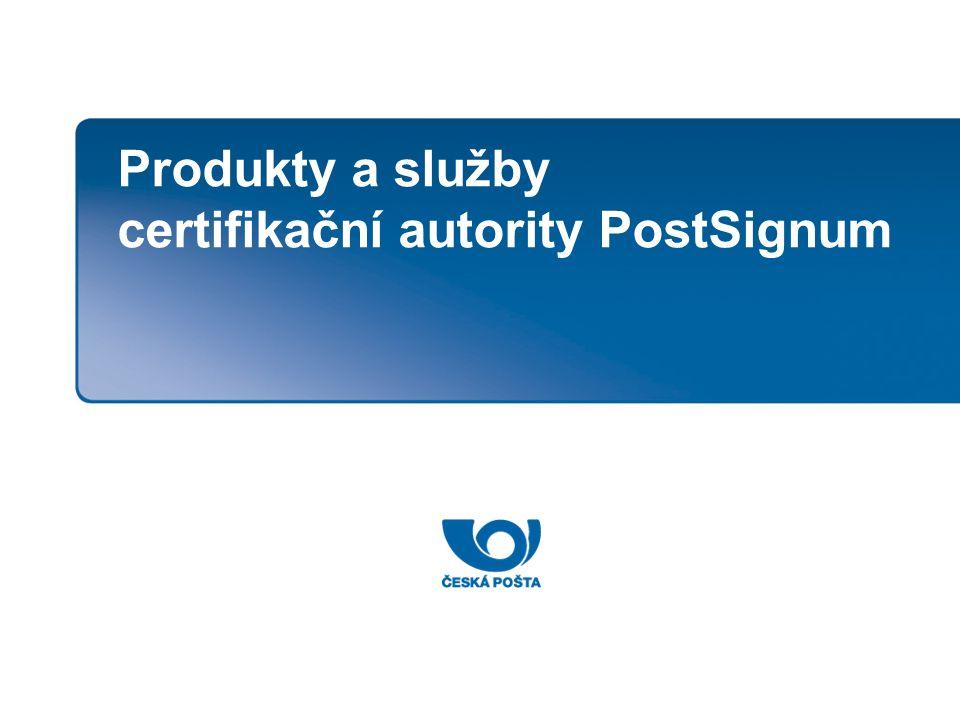 Produkty a služby certifikační autority PostSignum