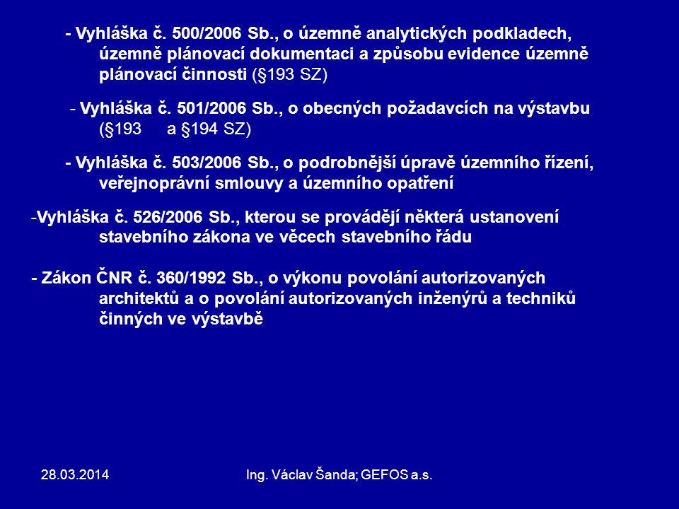 Ing. Václav Šanda; GEFOS a.s.