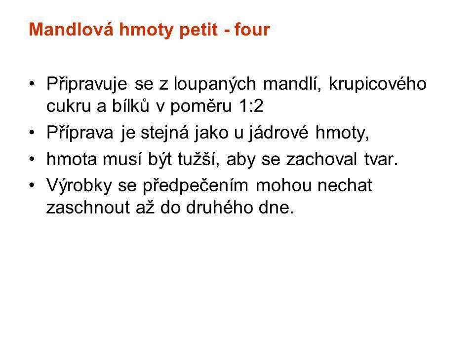 Mandlová hmoty petit - four