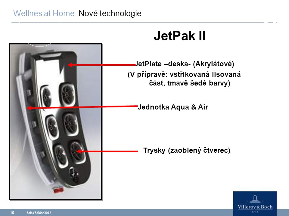 JetPak II Wellnes at Home. Nové technologie