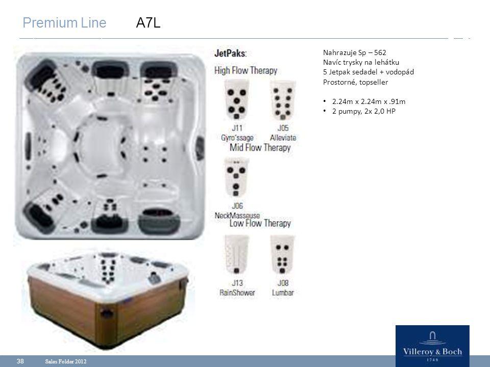 Premium Line A7L Nahrazuje Sp – 562 Navíc trysky na lehátku