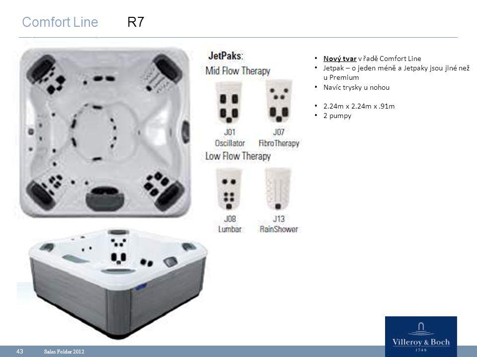 Comfort Line R7 Nový tvar v řadě Comfort Line