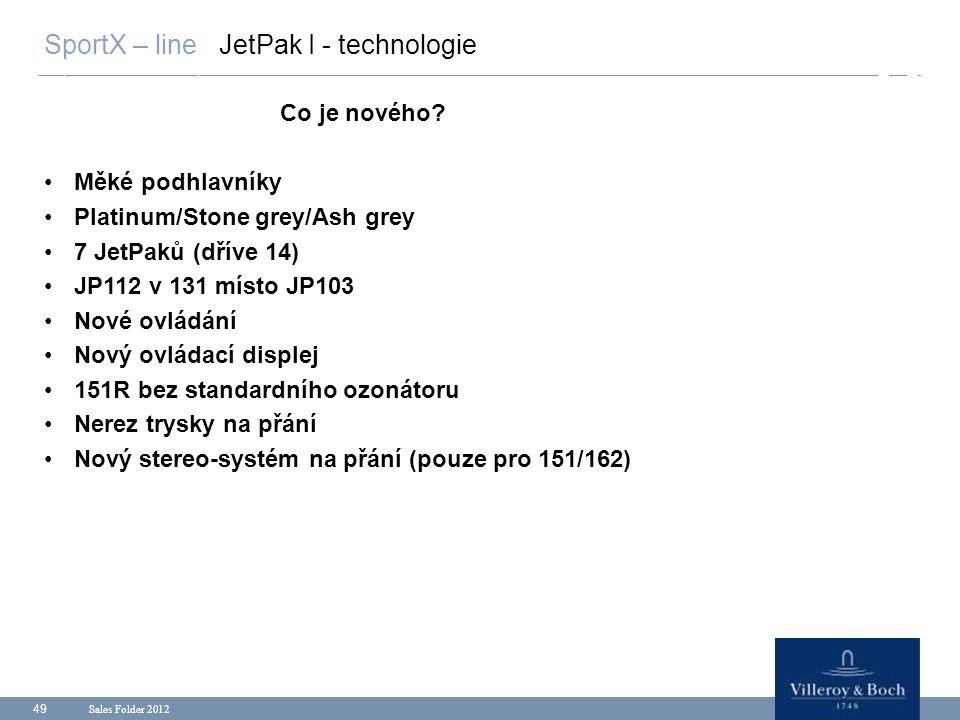 SportX – line JetPak I - technologie