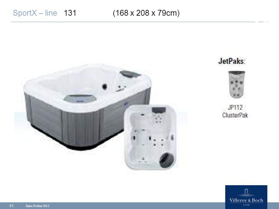 SportX – line 131 (168 x 208 x 79cm) Sales Folder 2012