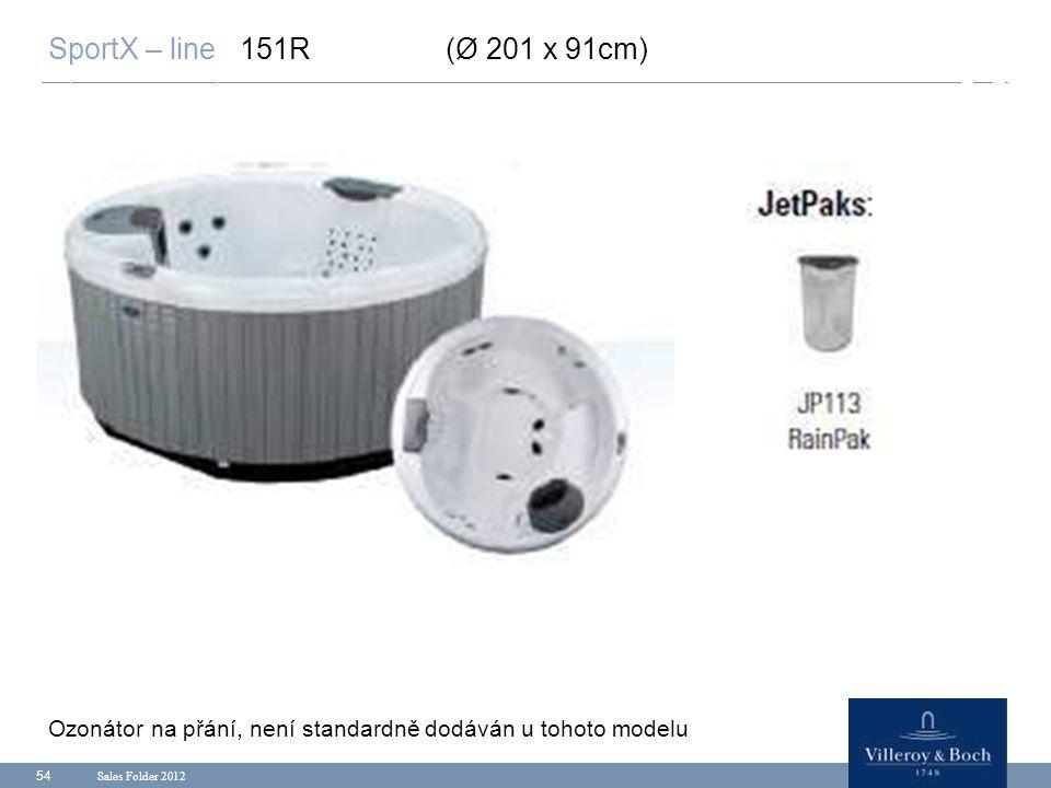 SportX – line 151R (Ø 201 x 91cm) Ozonátor na přání, není standardně dodáván u tohoto modelu.