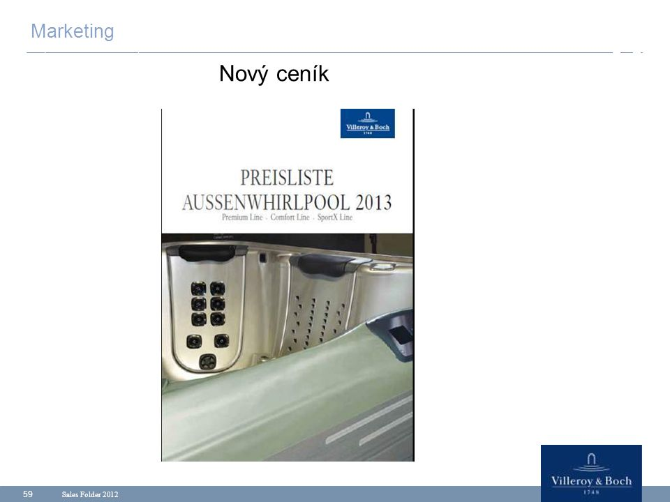 Marketing Nový ceník Sales Folder 2012