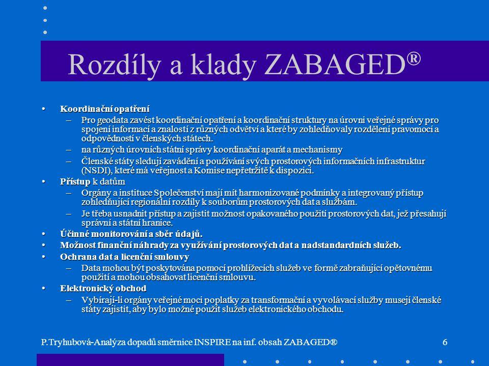Rozdíly a klady ZABAGED®