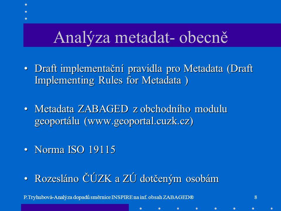 Analýza metadat- obecně
