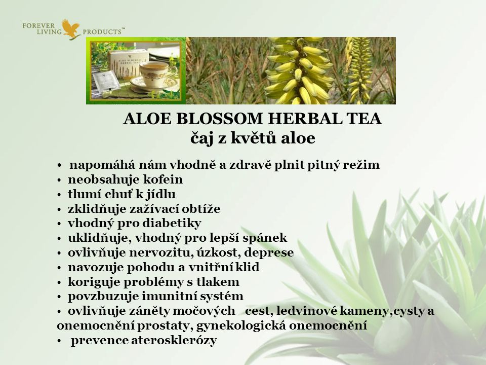 ALOE BLOSSOM HERBAL TEA čaj z květů aloe