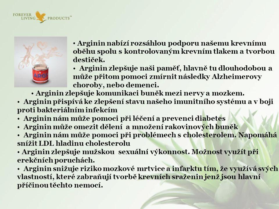 Arginin nabízí rozsáhlou podporu našemu krevnímu oběhu spolu s kontrolovaným krevním tlakem a tvorbou destiček.