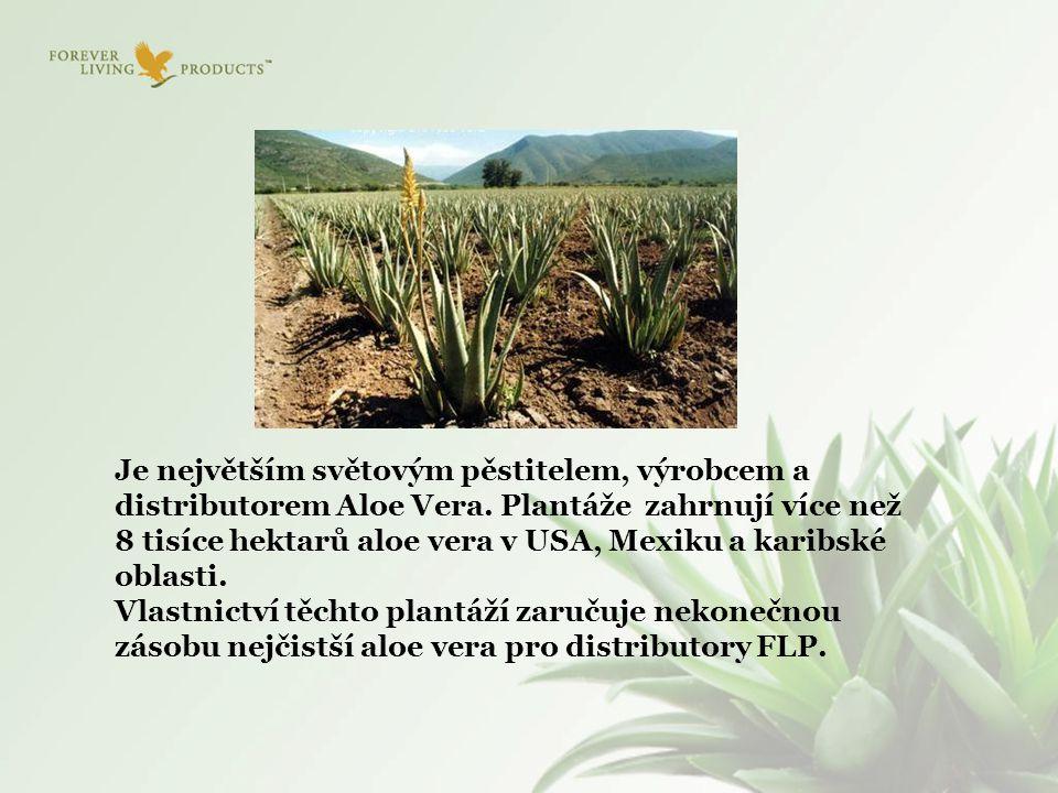 Je největším světovým pěstitelem, výrobcem a distributorem Aloe Vera