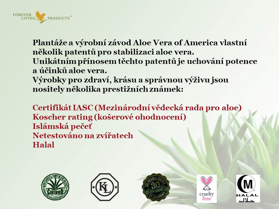 Plantáže a výrobní závod Aloe Vera of America vlastní