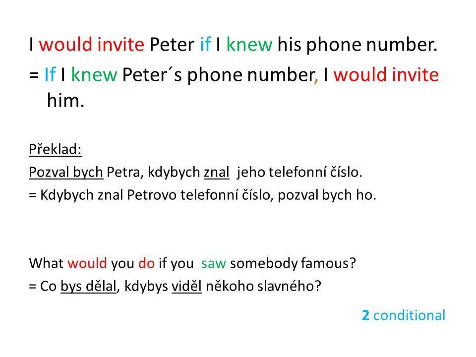 I would invite Peter if I knew his phone number.