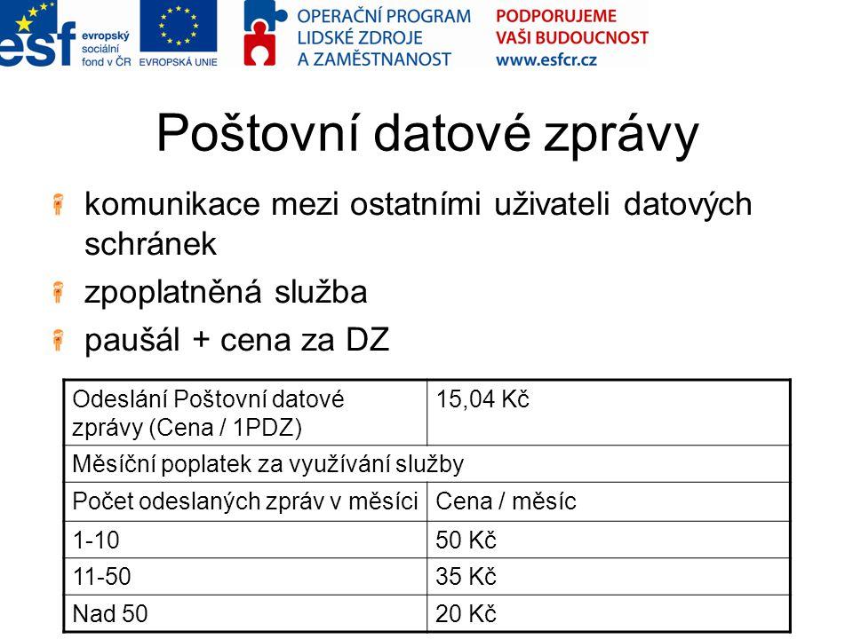 Poštovní datové zprávy