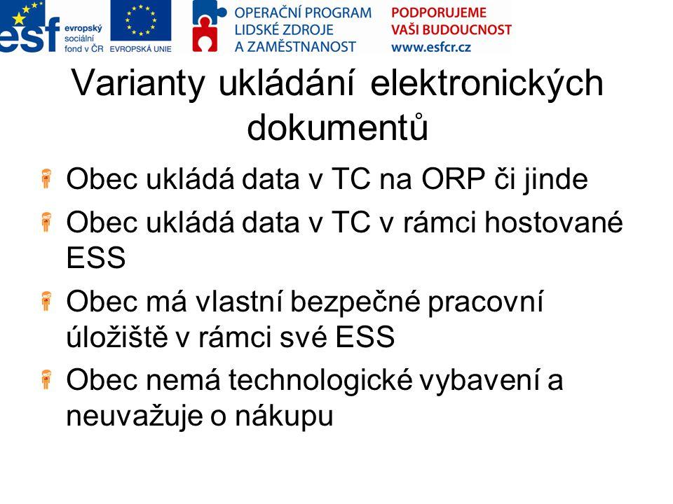 Varianty ukládání elektronických dokumentů