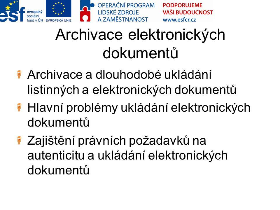 Archivace elektronických dokumentů