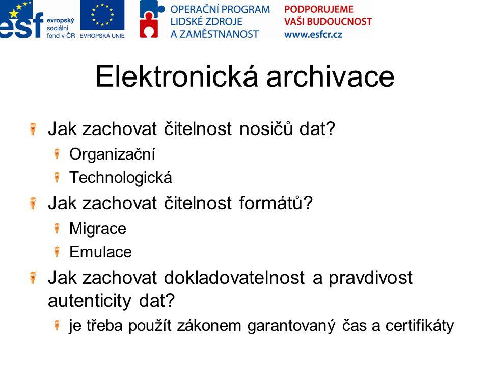 Elektronická archivace