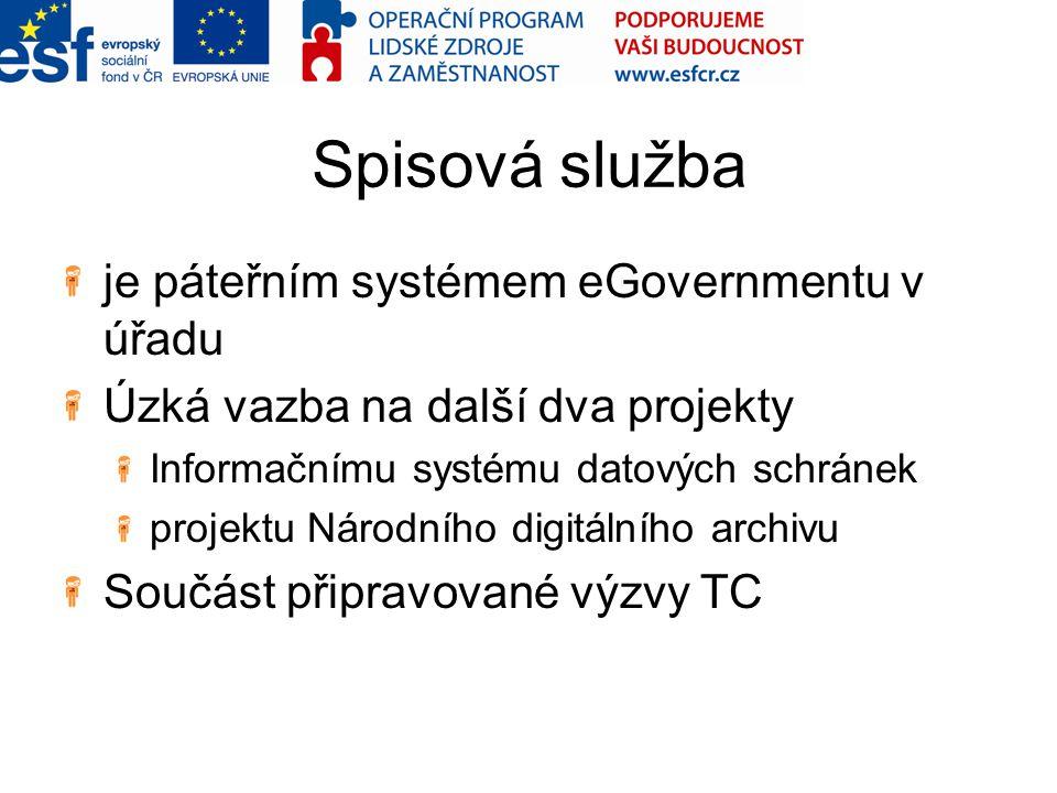 Spisová služba je páteřním systémem eGovernmentu v úřadu