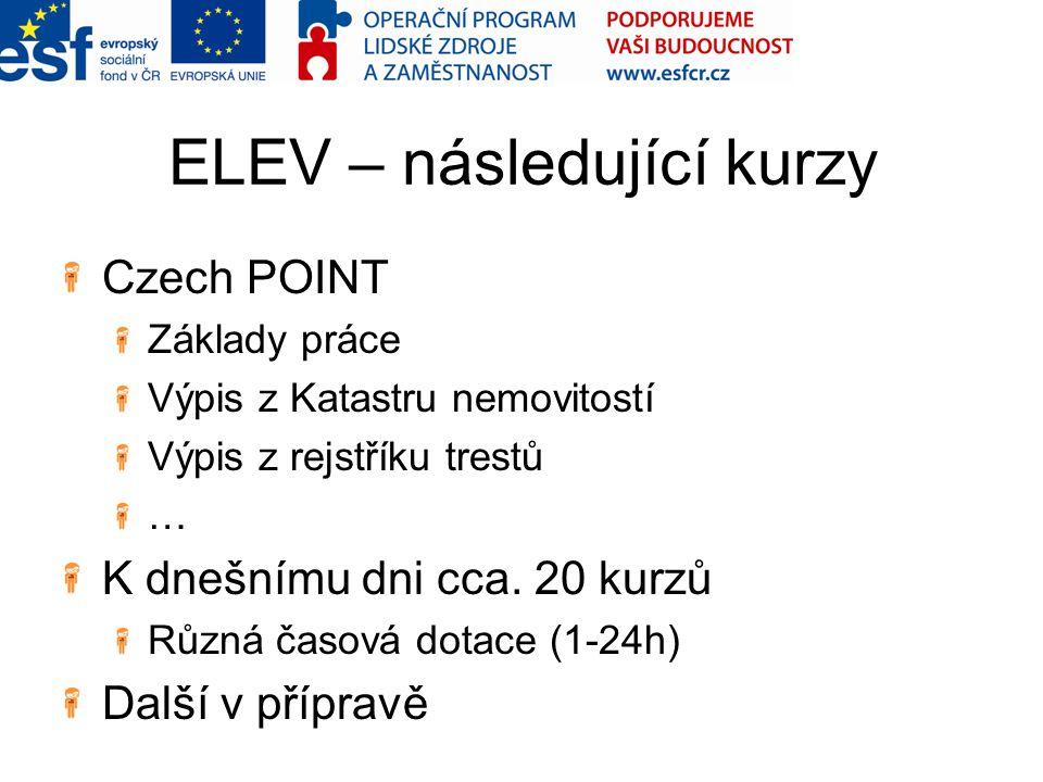 ELEV – následující kurzy