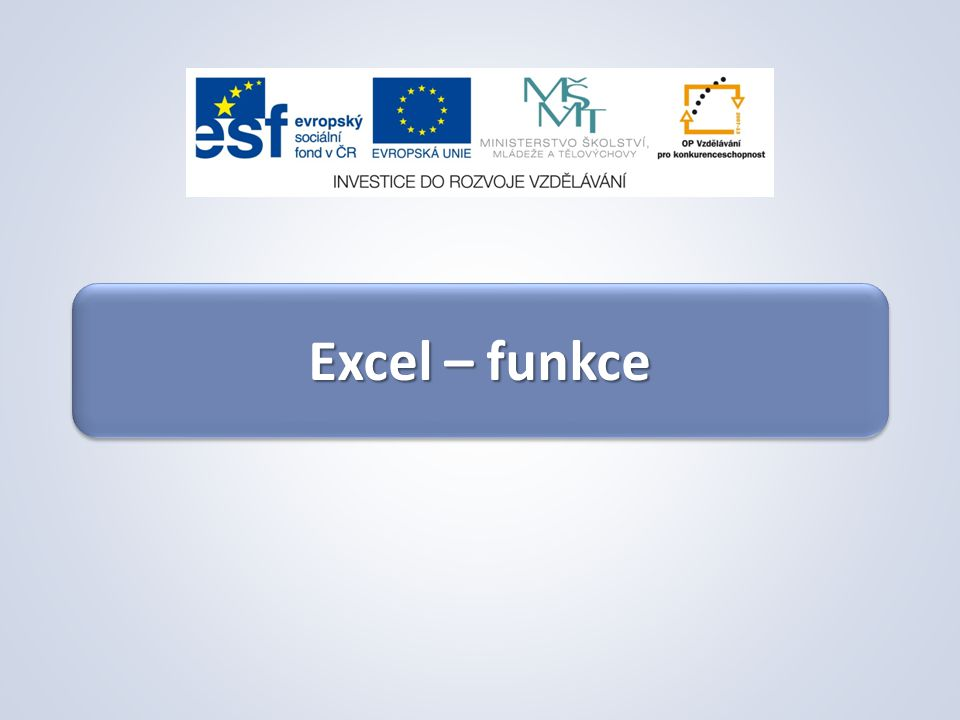 Excel – funkce