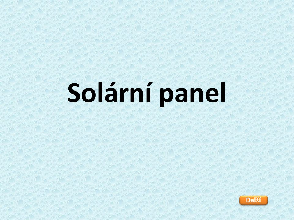 Solární panel Další