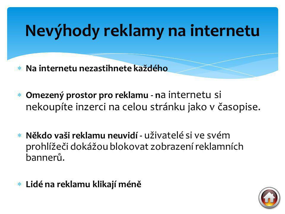 Nevýhody reklamy na internetu