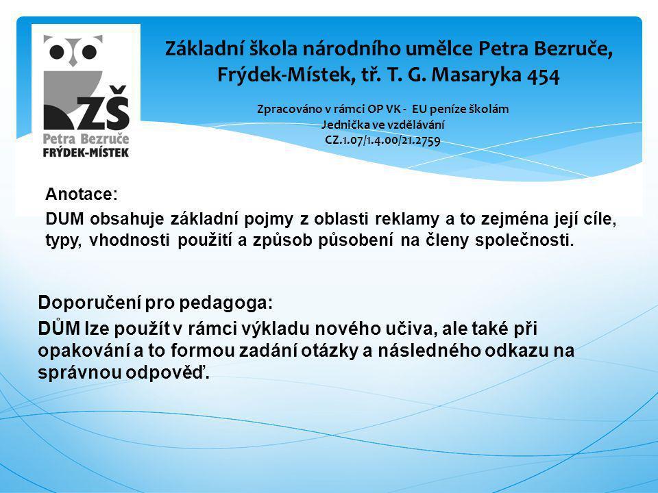Základní škola národního umělce Petra Bezruče, Frýdek-Místek, tř. T. G