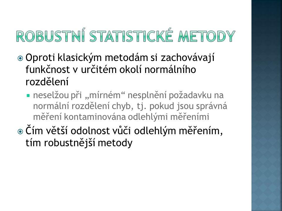 Robustní statistické metody