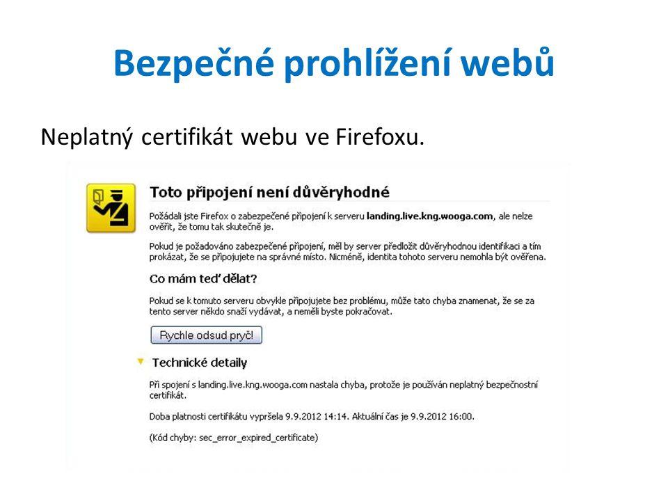 Bezpečné prohlížení webů