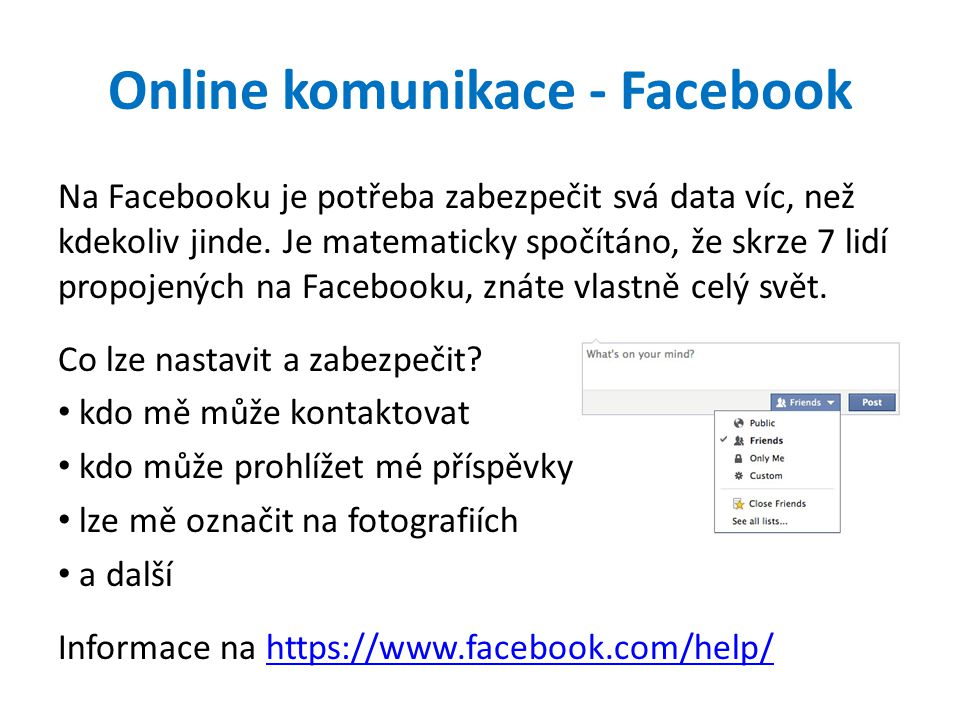 Online komunikace - Facebook