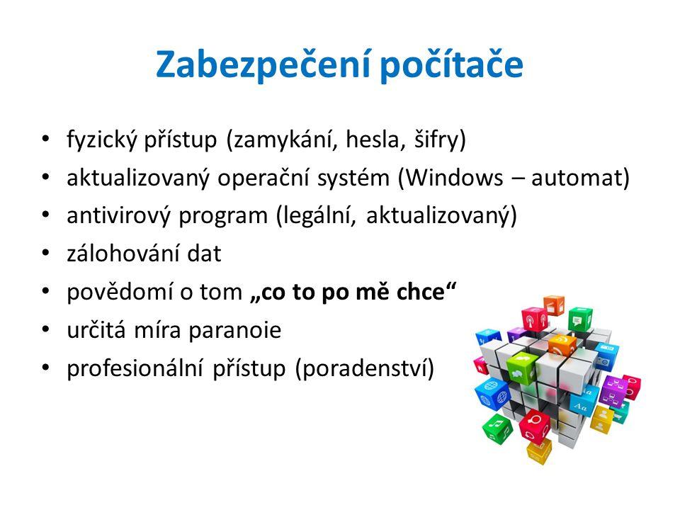 Zabezpečení počítače fyzický přístup (zamykání, hesla, šifry)