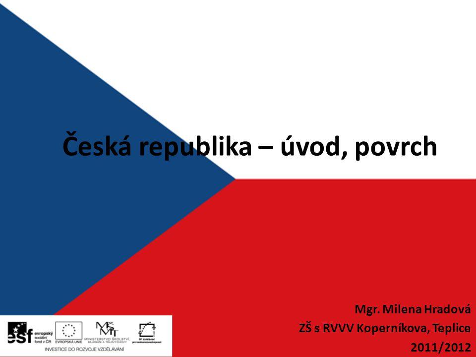 Česká republika – úvod, povrch