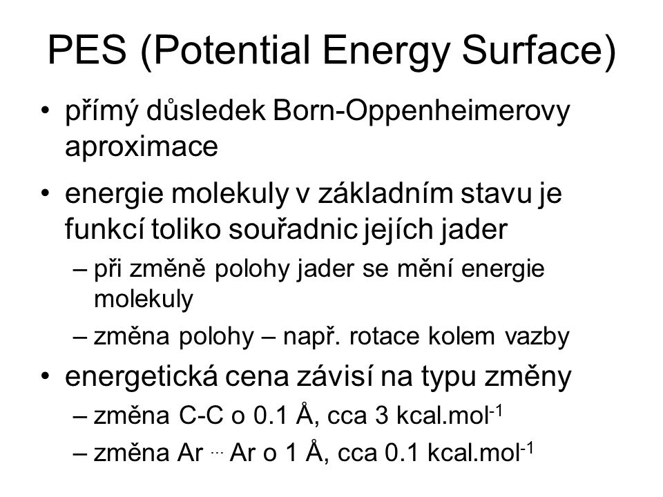 PES (Potential Energy Surface)