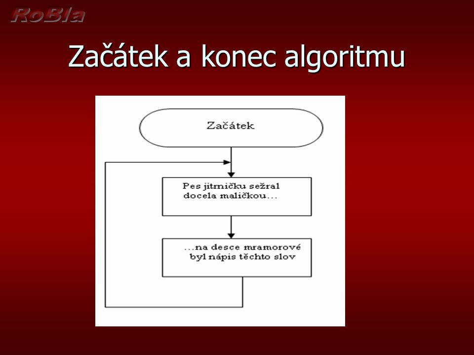 Začátek a konec algoritmu