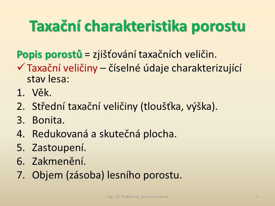 Taxační charakteristika porostu