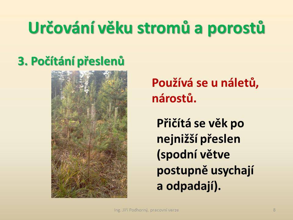 Určování věku stromů a porostů