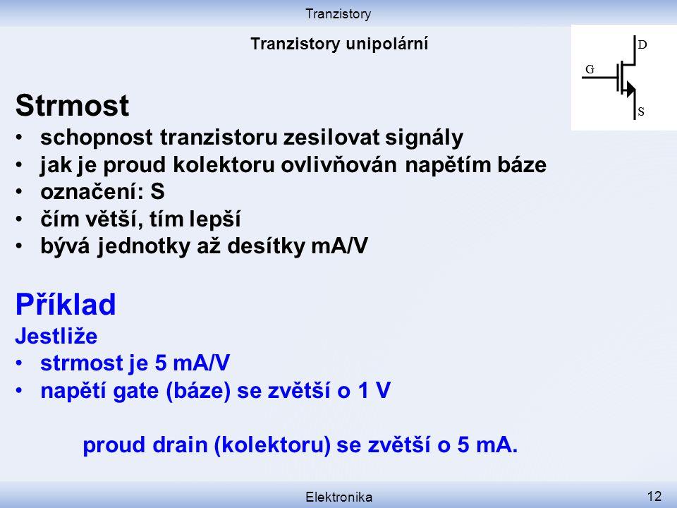 Tranzistory unipolární