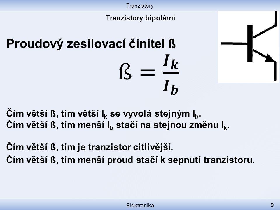 Tranzistory bipolární