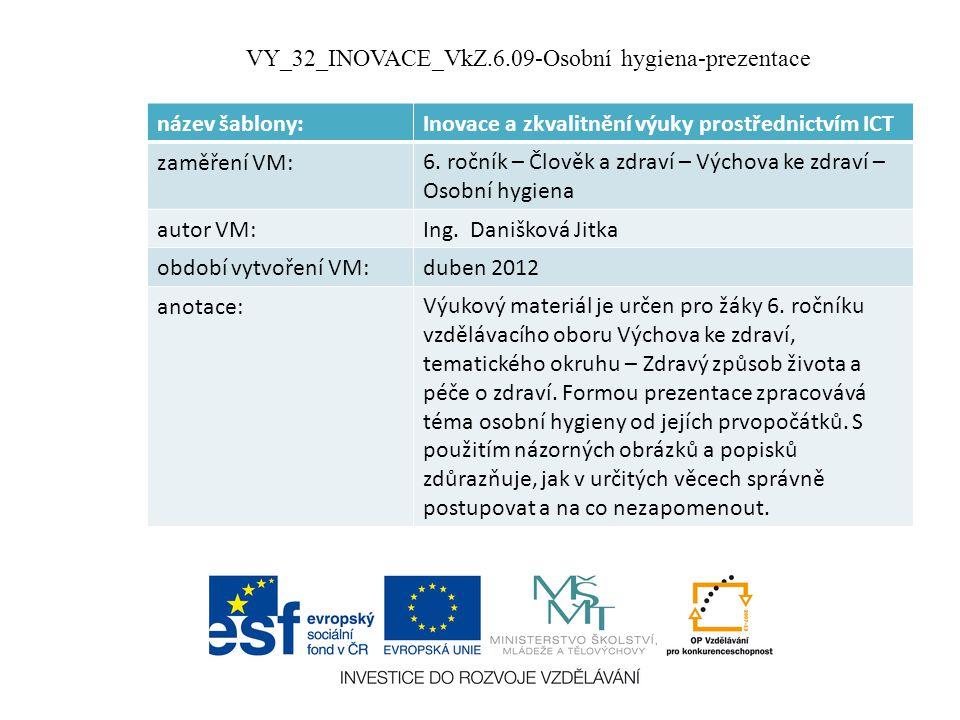 VY_32_INOVACE_VkZ.6.09-Osobní hygiena-prezentace
