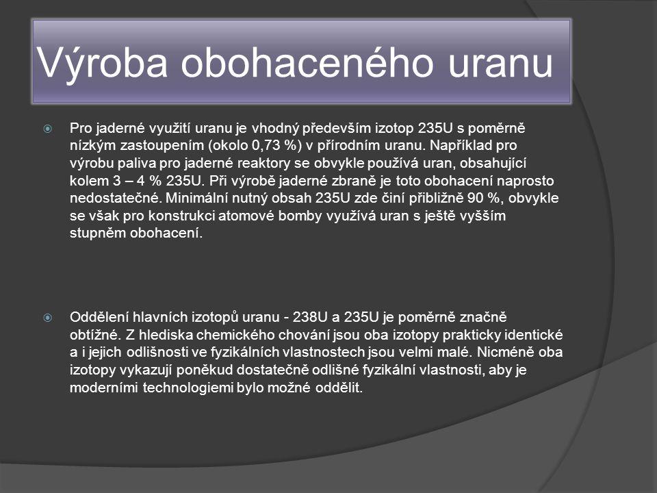 Výroba obohaceného uranu