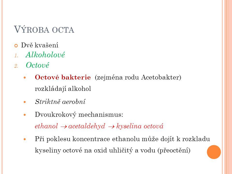 Výroba octa Alkoholové Octové
