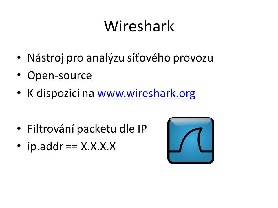 Wireshark Nástroj pro analýzu síťového provozu Open-source