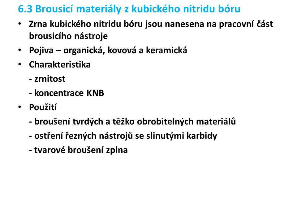 6.3 Brousicí materiály z kubického nitridu bóru