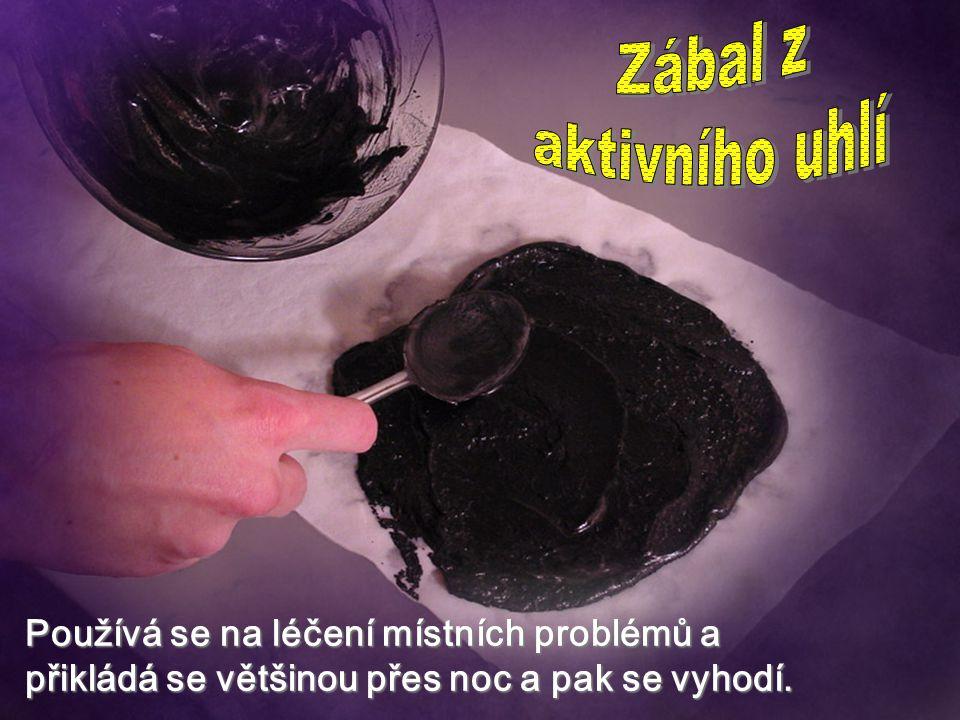 Zábal z aktivního uhlí.