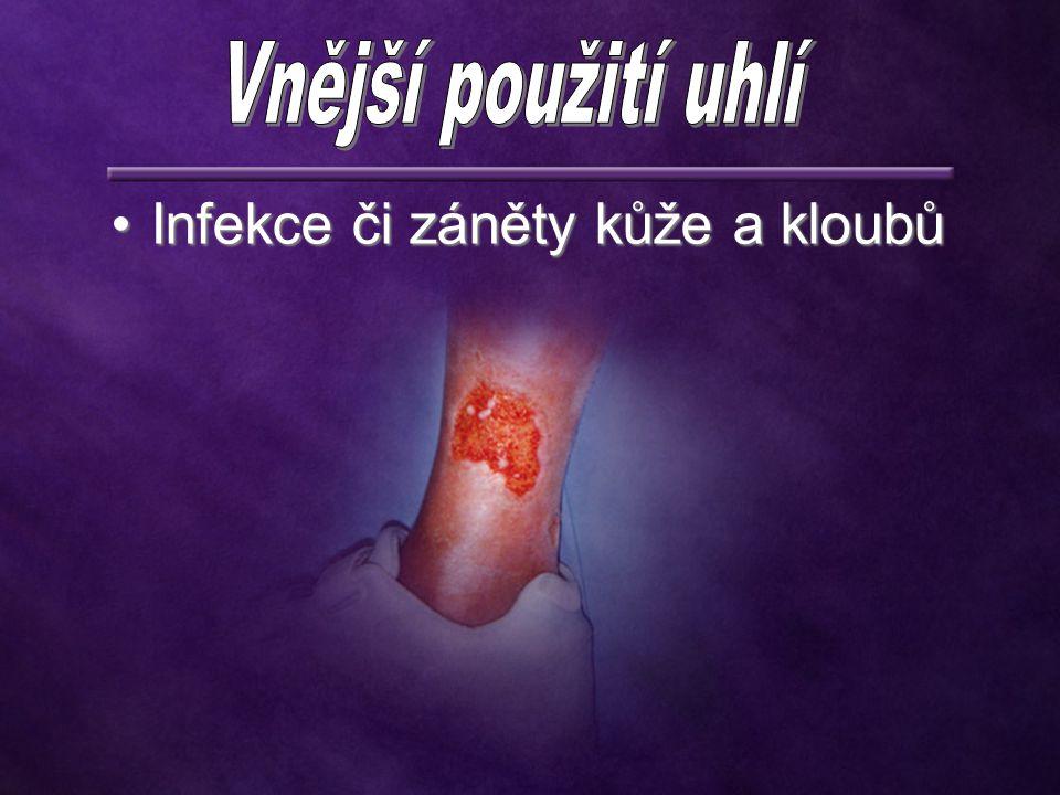 Infekce či záněty kůže a kloubů