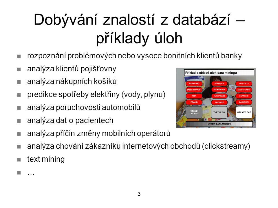 Dobývání znalostí z databází – příklady úloh