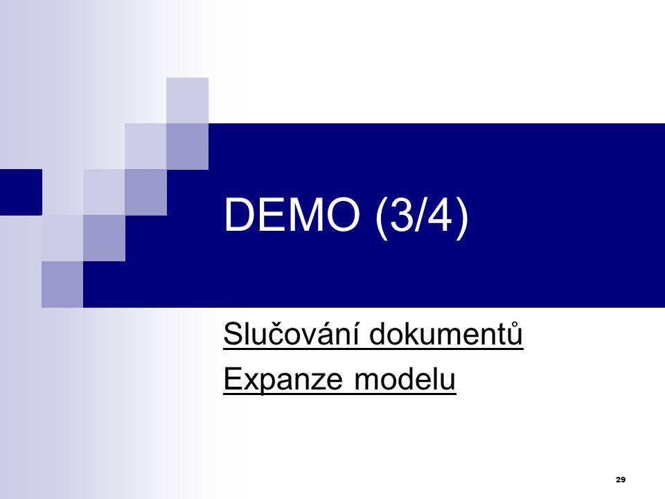 Slučování dokumentů Expanze modelu