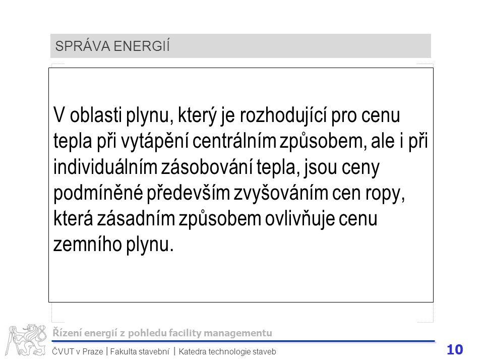 SPRÁVA ENERGIÍ