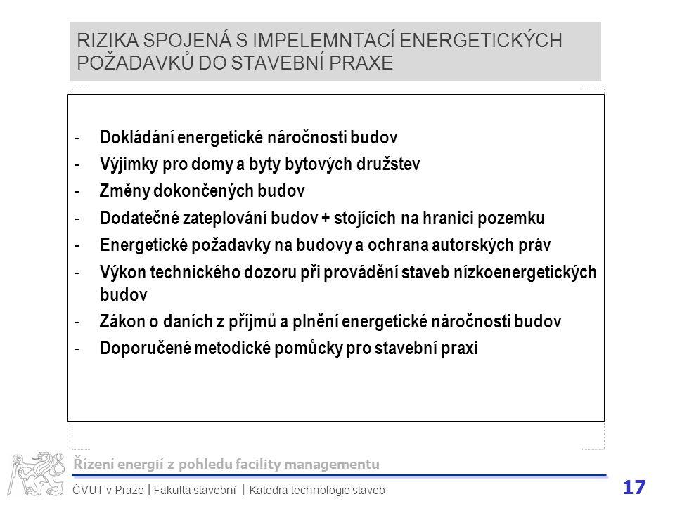 Dokládání energetické náročnosti budov